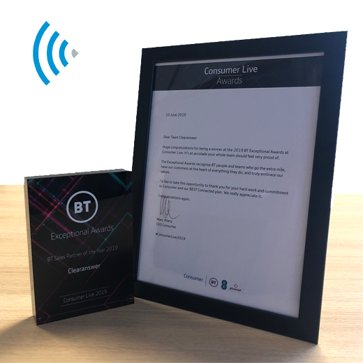 Clearanswer - BT Partner of the Year 2019